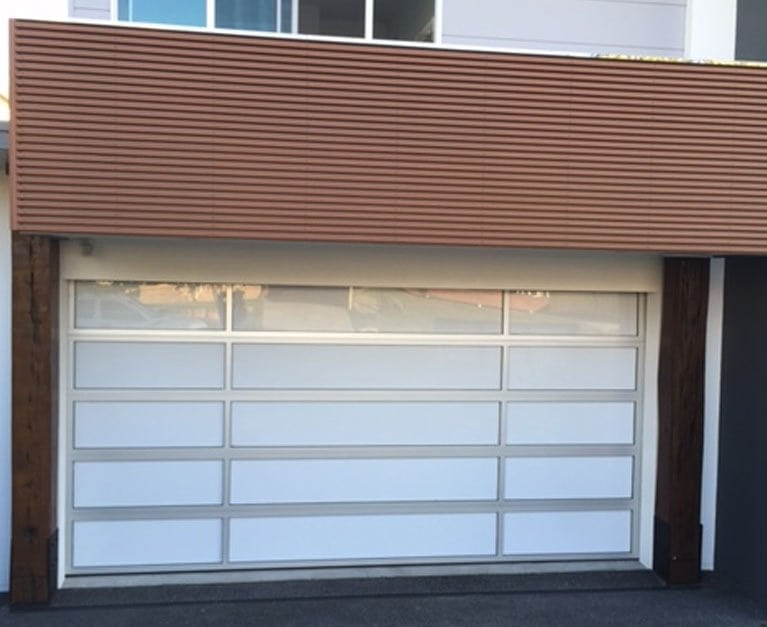 The roll-up garage door